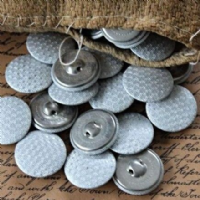 8 Vintage Metal Buttons